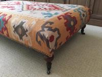 Restoration Hardware Kilim Ottoman | Chairish