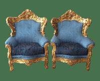 Antique Baroque Chairs - A Pair | Chairish