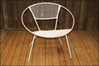 Mid-Century Modern Metal Mesh Hoop Chair   Chairish