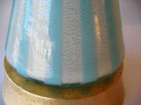 Italian Murano Blue, White and Gold Mid-Century Modern ...