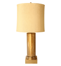 Gold Crackle Glass Table Lamp | Chairish