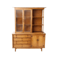 Thomasville Mid-Century Asian-Style Hutch | Chairish