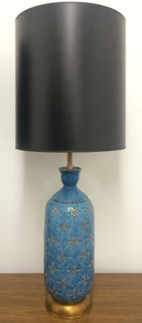 Italian Ceramic Marbro Lamps - A Pair | Chairish