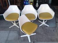 Burke Mid-Century Tulip Chairs - Set of 4 | Chairish