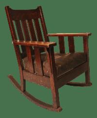 Arts & Crafts Mission Oak Morris Rocking Chair | Chairish