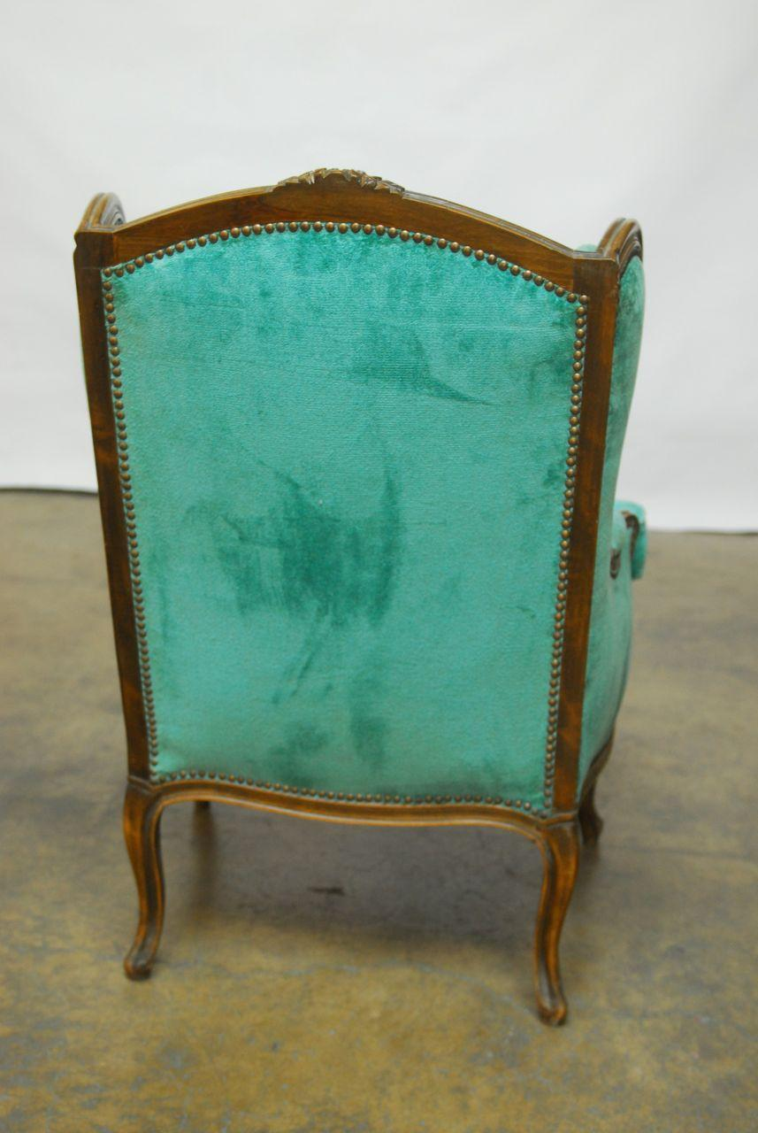 Turquoise Velvet Accent Chair