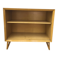 Mid Century Modern Bookcase With Adjustable Shelf | Chairish