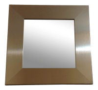 Modern Silver Square Wall Mirror