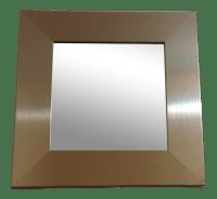 Modern Silver Square Wall Mirror