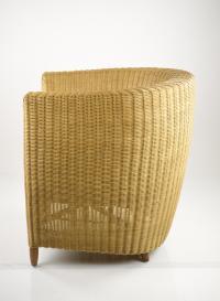 Mid-Century Modern Wicker Tub Chairs - Pair | Chairish