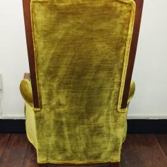 Olive Green Velvet Accent Chair Chairs For Sale Broyhill Mid Century Tufted High Back | Chairish