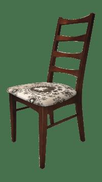 Mid-Century Modern Ladder Back Accent Chair | Chairish