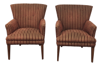 Ethan Allen Mid-Century Arm Chairs- A Pair | Chairish