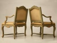 100% Original Antique Italian Painted Louis XV Armchairs ...