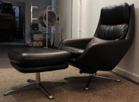 Mid-Century Overman Lounge Chair & Ottoman Set | Chairish