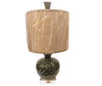 Small Mid-Century Ceramic Table Lamp | Chairish