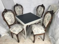 Antique French Game Table and Chairs