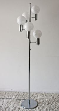 Mid-Century Modern Chrome Floor Lamp | Chairish
