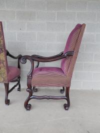 Old World Tuscan Spanish Style Arm Chairs - A Pair | Chairish