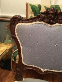 Antique 19th C French Louis XV Petite Boudoir Chair | Chairish