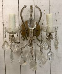 Italian Crystal Beaded Sconce by Feldman Lighting