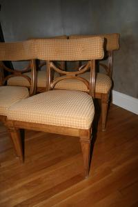 Mid-Century Danish Upholstered Wood Dining Chairs - A Pair ...