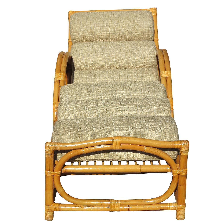 Half Moon Rattan Chaise Longue Chair  Chairish