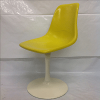 Saarinen-Style Fiberglass Tulip Chair | Chairish