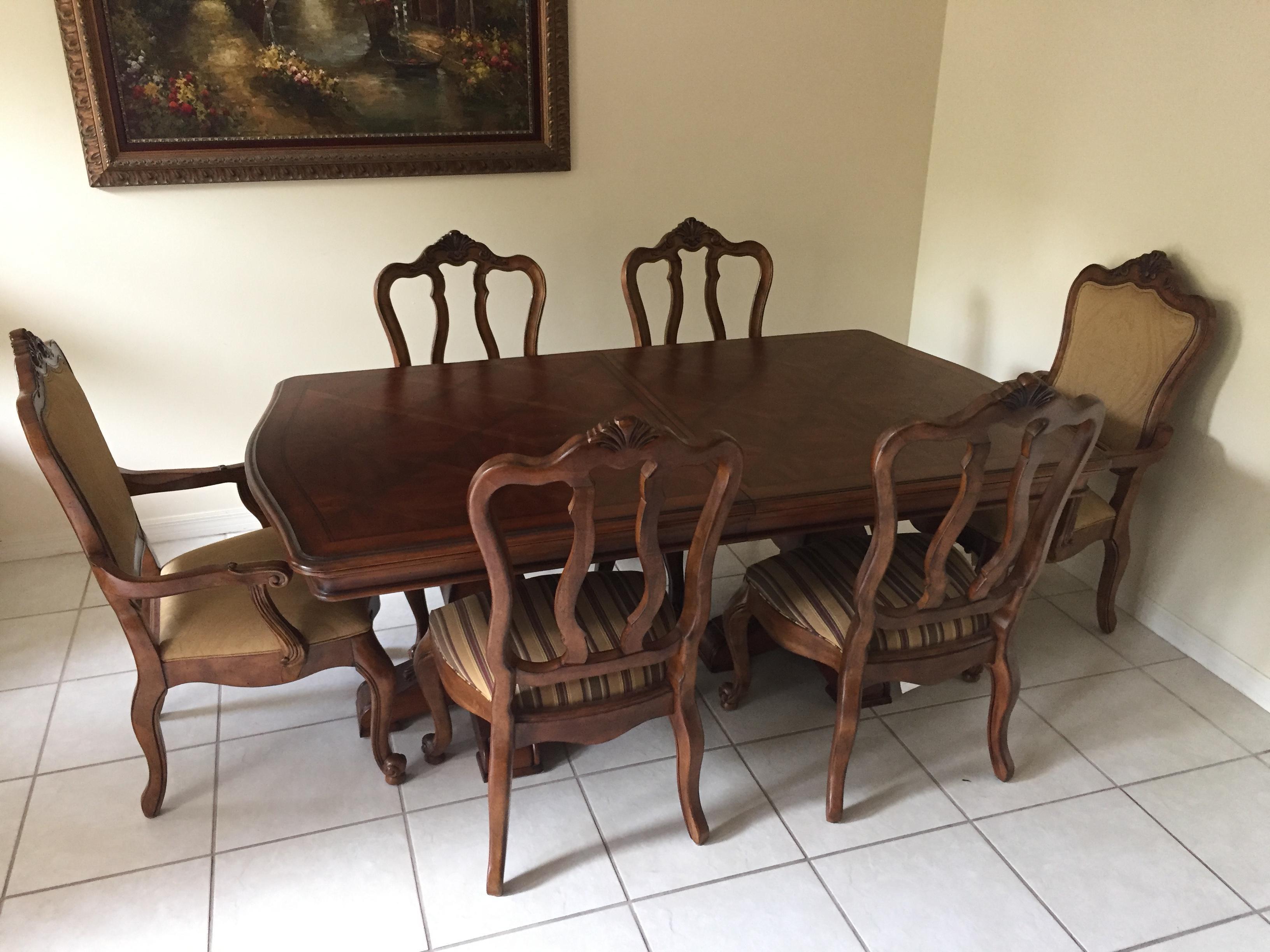 Ethan Allen Tuscany Dining Set  Set of 7  Chairish