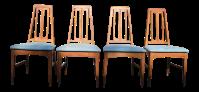 Mid-Century Modern Dining Chairs - Set of 4   Chairish