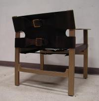 Bernhardt Mid-Century Modern Leather Buckle Chair | Chairish