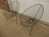 Mid-Century Modern Metal Egg Chairs - A Pair   Chairish