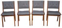 Jens Risom Mid-Century Dining Chairs - Set of 4 | Chairish