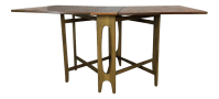 Danish Modern Drop-Leaf Walnut Folding Table | Chairish