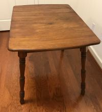 Mid-Century Solid Wood Dining Table with Turned Legs ...