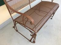 Vintage Wrought Iron Brown Patio Rocker & Glider Set ...