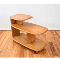 Heywood Wakefield Mid-Century Tiered End Table | Chairish