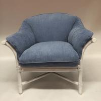 McGuire Furniture Rattan Bamboo Lounge Chair | Chairish