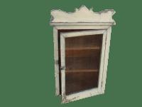 Rustic Farmhouse Wall Storage Cabinet | Chairish