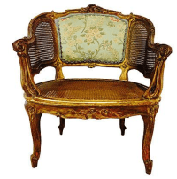 Antique French Louis XV Style Cane Chair | Chairish