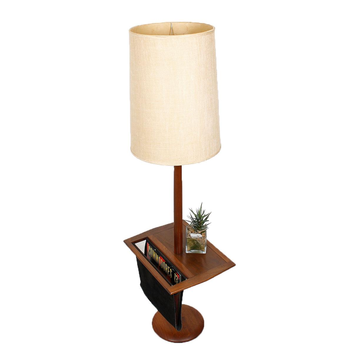Laurel Floor Lamp with Table & Magazine Holder