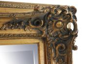 Carved Gold Gilded Mirror | Chairish