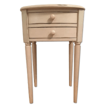 Pottery Barn Distressed White Nightstand   Chairish