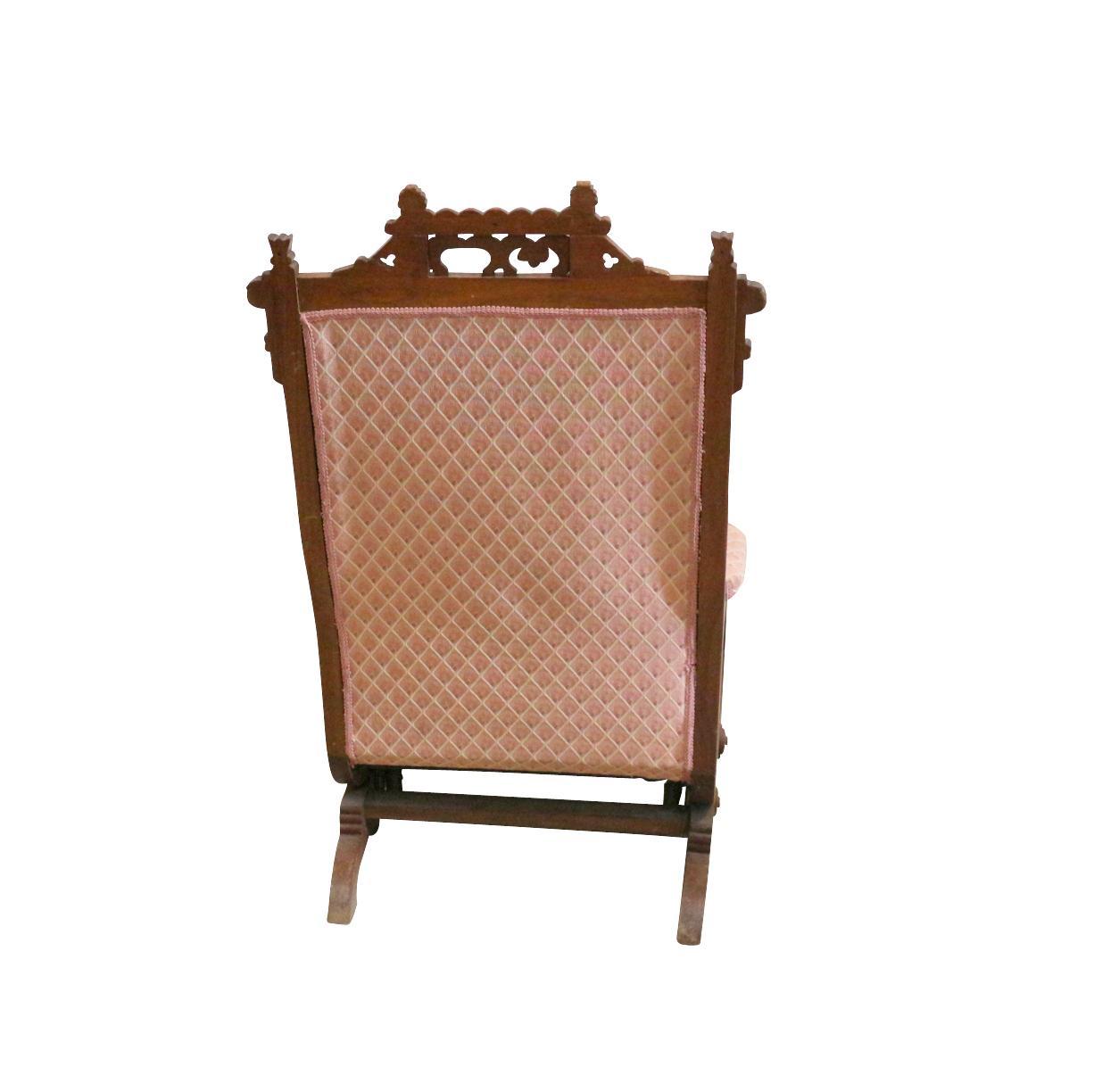 1880s Pink Rocking Chair  Chairish