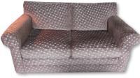 Chenille Basketweave Sofa, Loveseat & Ottoman | Chairish