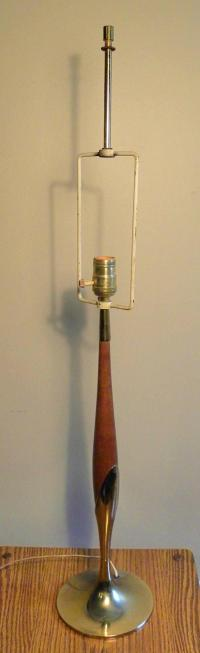 Vintage Mid Century Danish Modern Table Lamp | Chairish
