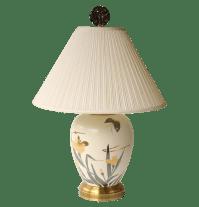 Wildwood Butterfly And Iris Table Lamp | Chairish