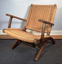 Vintage Mid-Century Hans Wegner Style Folding Lounge Chair ...