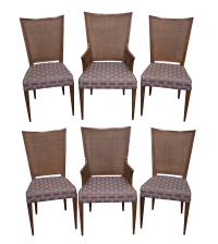 Widdicomb Mid Century Cane Back Dining Chairs - 6 | Chairish