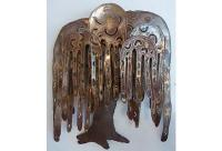 Stylized Metal Weeping Willow Wall Sculpture | Chairish
